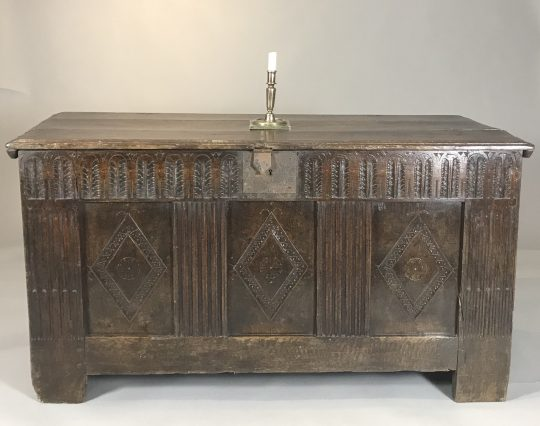 Carved oak chest