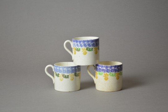 Llanelly pottery spongeware mugs Sold