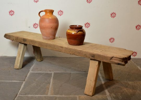 19th century antique pig bench / coffee table