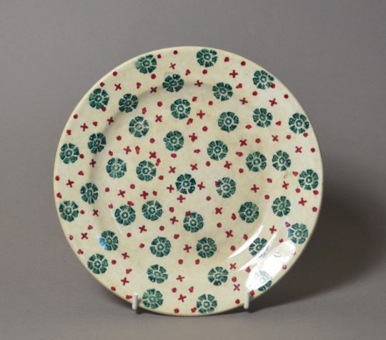 Small sponge decorated plate sold