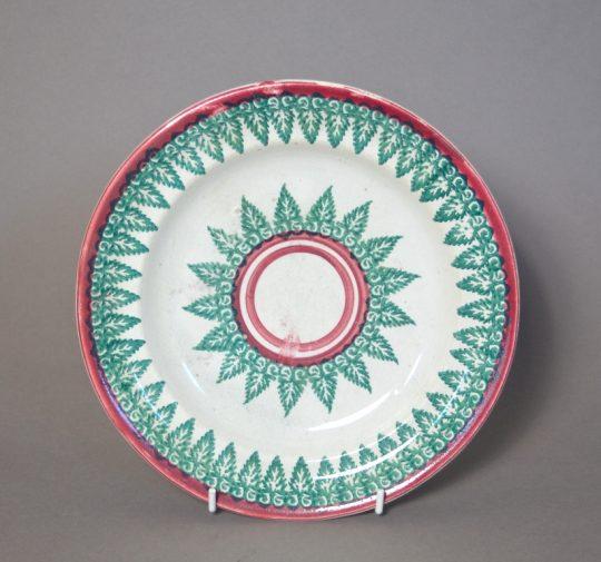 Spongeware plate