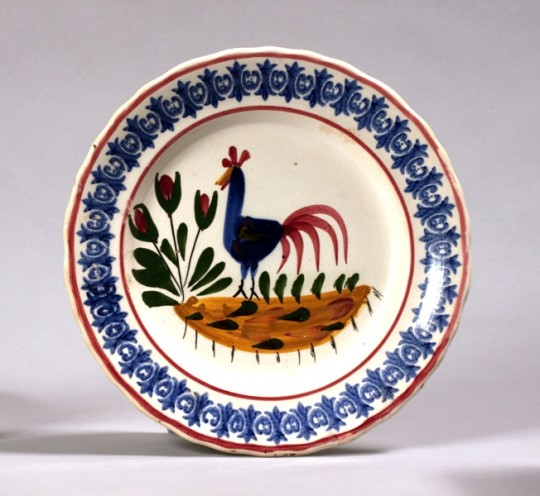 Llanelly pottery Cockerel plate Sold