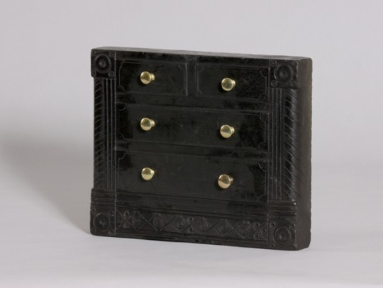 Miniature slate model chest of drawers