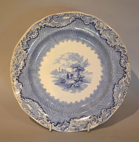 "Llanelly / South Wales Pottery ""Damask Border"""