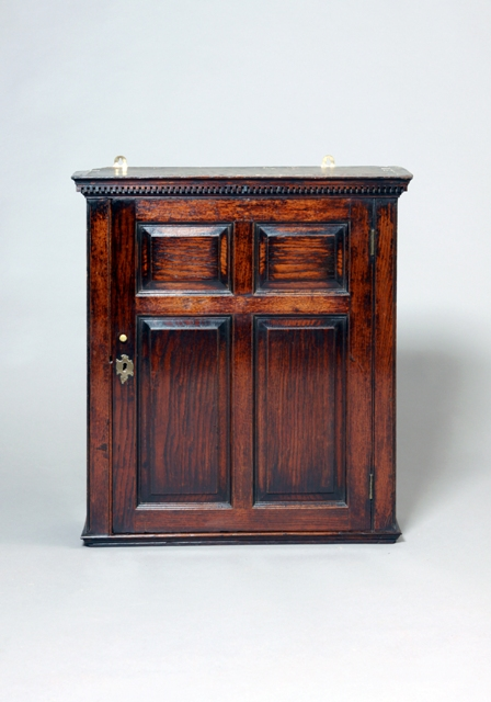 Welsh oak mural cupboard