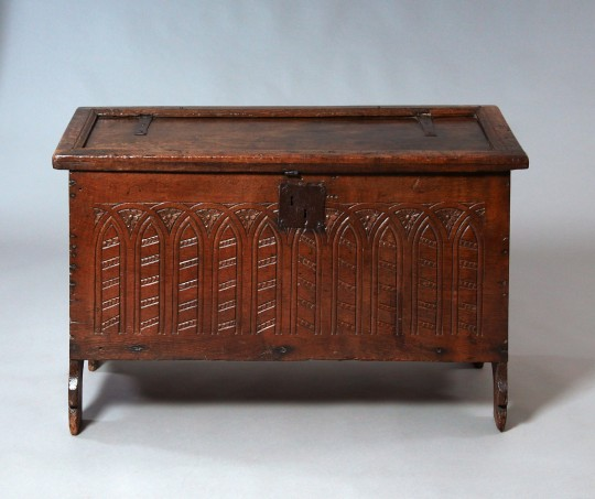 Early oak chest Sold
