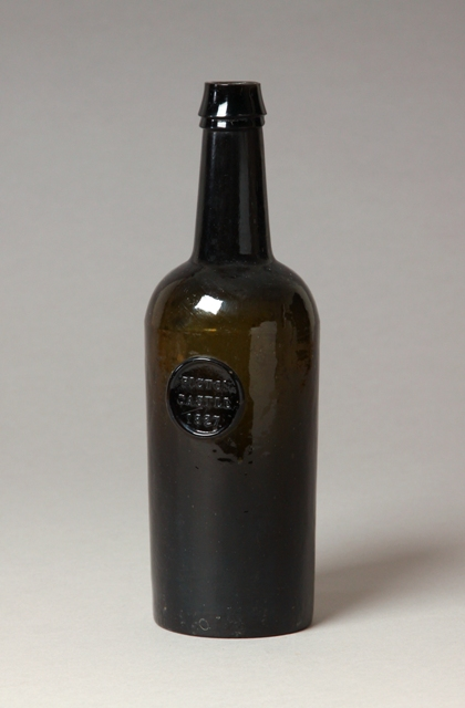 Sealed Welsh wine bottle, Picton Castle, Haverfordwest, Pembrokeshire