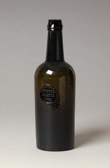 Sealed Welsh wine bottle, Picton Castle, Haverfordwest, Pembrokeshire