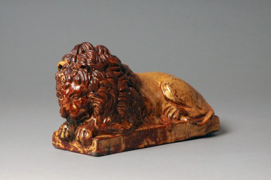 Pottery lion Sold