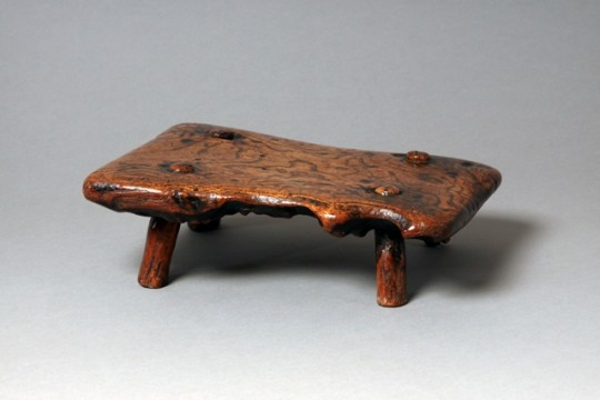Low figured elm stool Sold