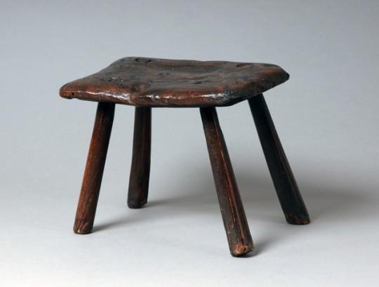 Burr elm stool Sold