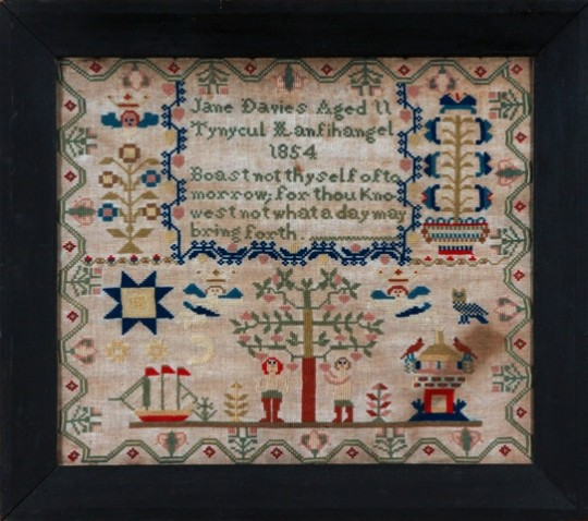 Victorian Welsh sampler Sold