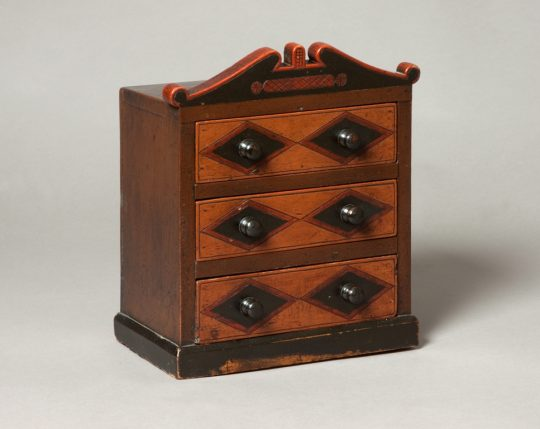 Miniature chest of drawers Sold