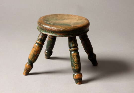 Small round painted stool