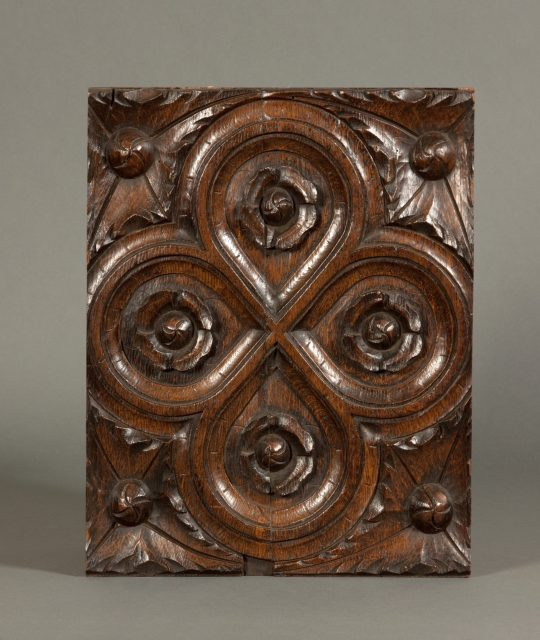 Carved oak panel