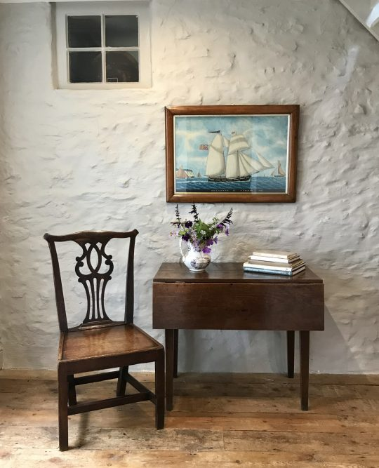 Small Welsh oak drop-leaf table Sold