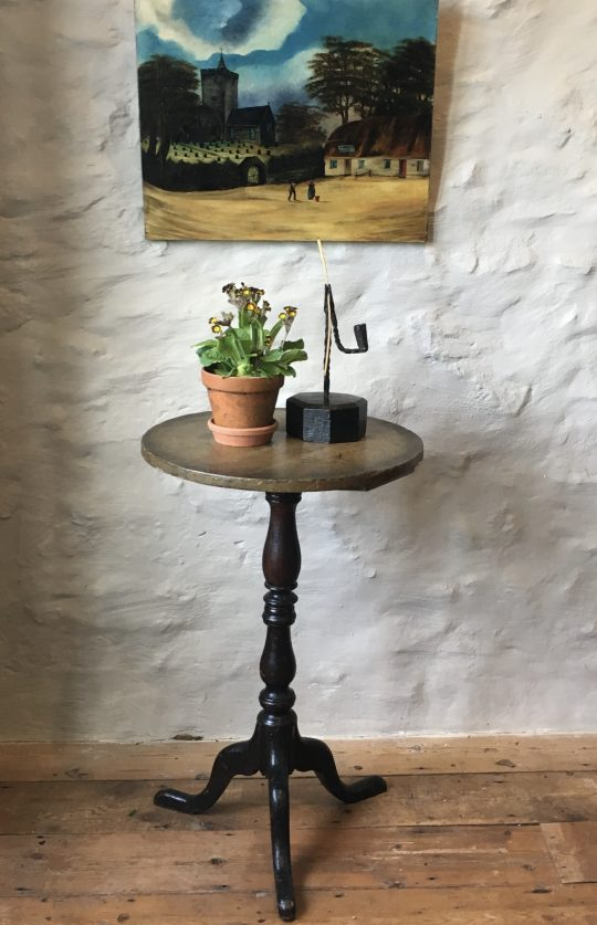 Small painted pedestal table
