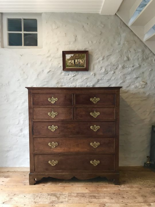 Carmarthenshire oak chest of drawers