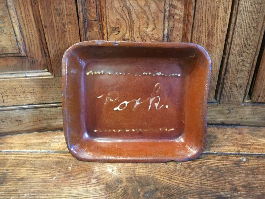 "Buckley Pottery ""pork"" dish"