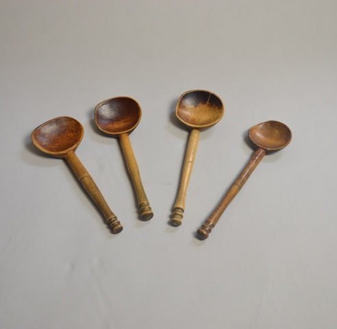Four Welsh sycamore Cawl spoons Sold