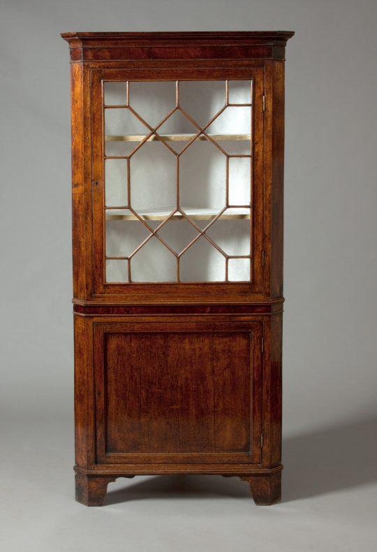 Glazed Welsh corner cupboard Sold