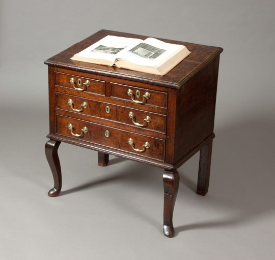 Welsh chest of drawers with sloping top