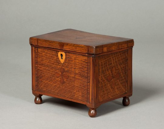 Inlaid oak box Sold
