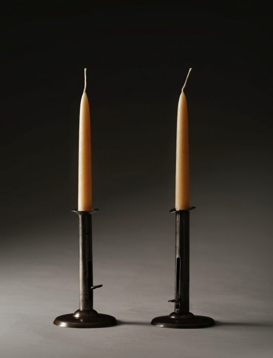 Pair of Hog Scraper candle sticks