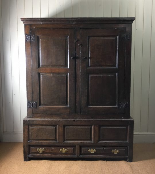 Welsh oak hanging press cupboard Sold