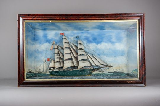 Magnificent Welsh ship diorama