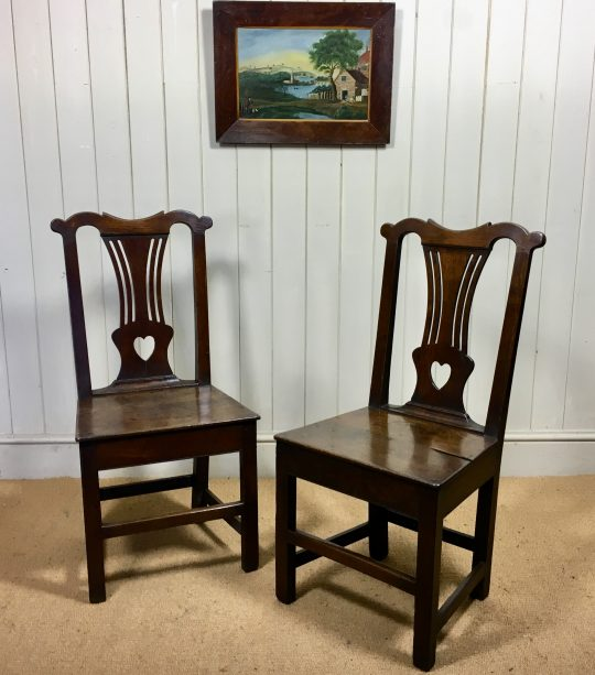 Pair of Welsh oak chairs Sold