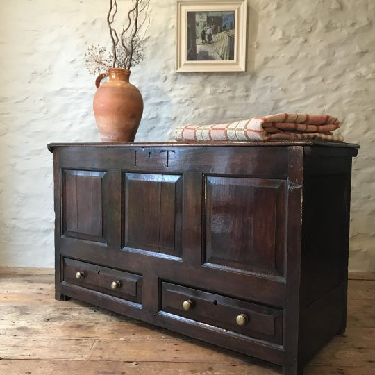 18thC Welsh oak chest from North Wales