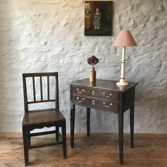 Small Georgian Welsh oak side table