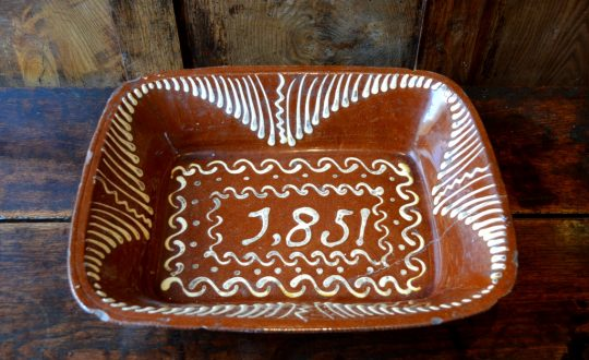 Dated slipware dish