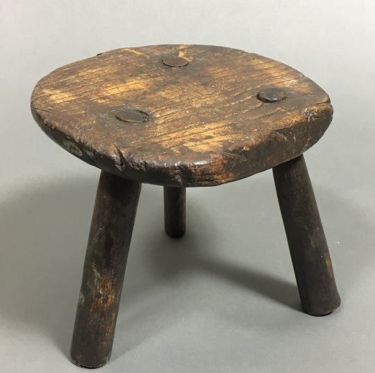 Small primitive Welsh ash stool Sold