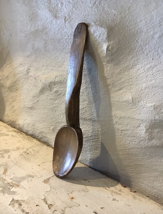 19th century Welsh beech spoon