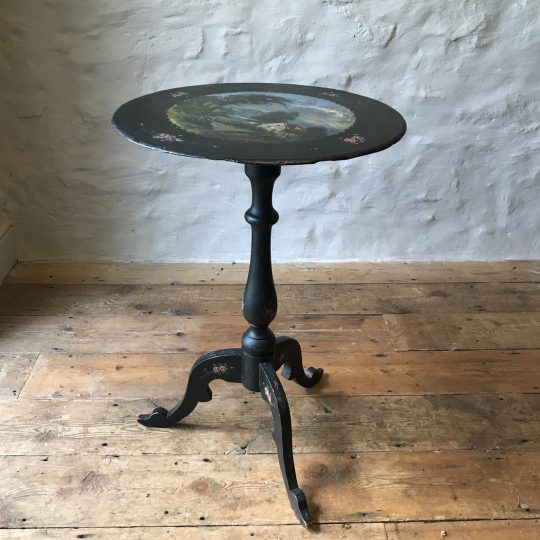 Small Welsh slate top pedestal table