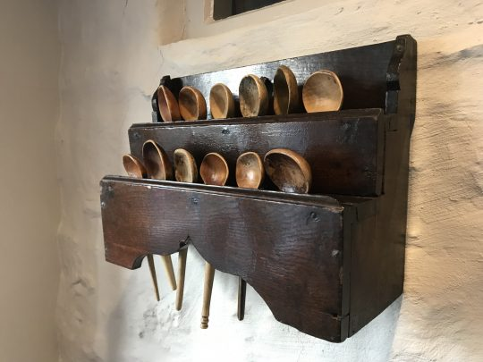 Welsh oak spoon rack
