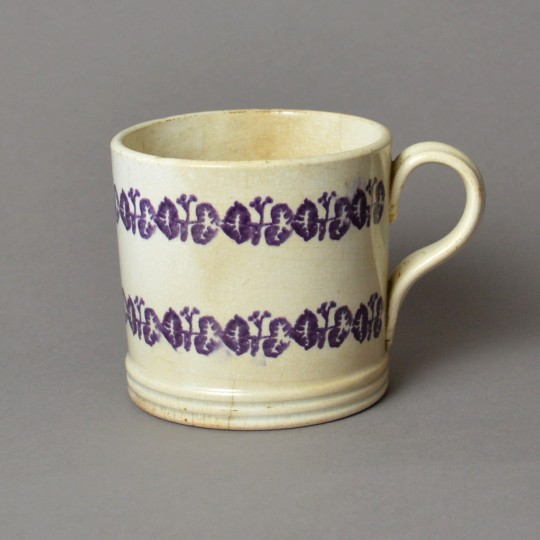 Irish spongeware mug Sold