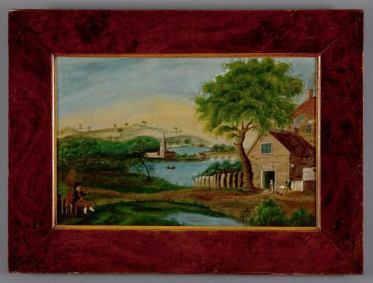 Pair of Folk art paintings Sold
