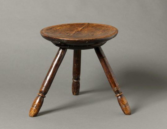 "A ""Make Do & Mend"" Welsh three legged stool"