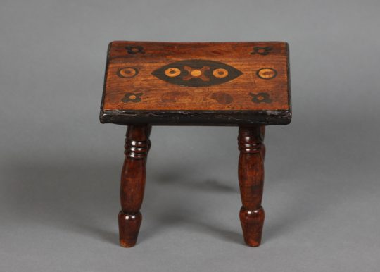 Folk art stool