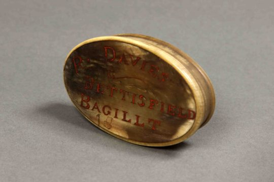 Welsh horn snuff box Sold