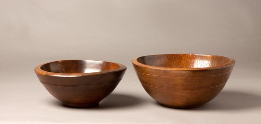 Two sycamore bowls