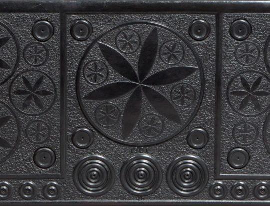 Large carved Welsh slate chimney piece / Silff ben tan o lechen Sold