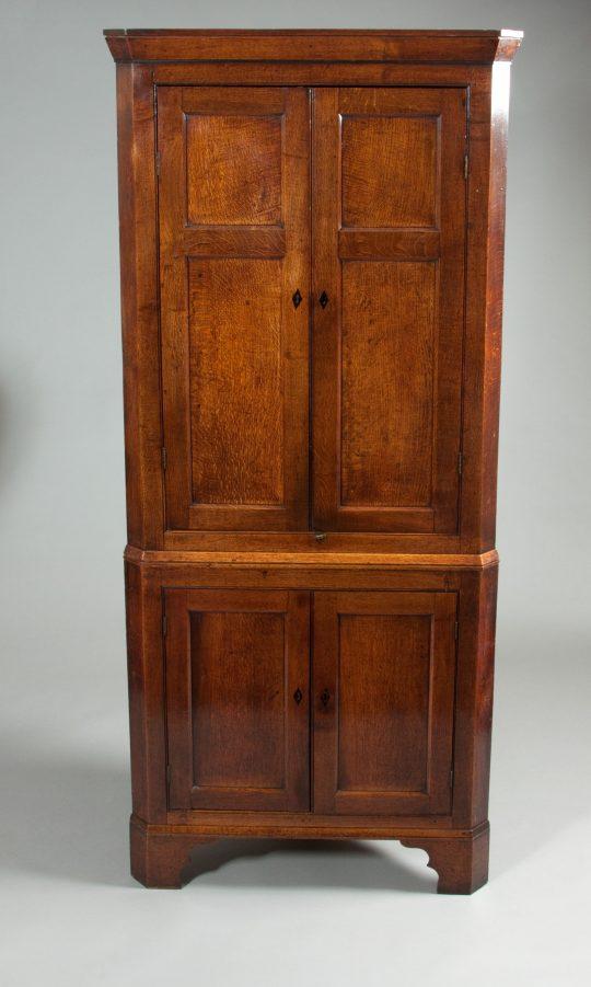 Welsh oak corner cupboard Sold
