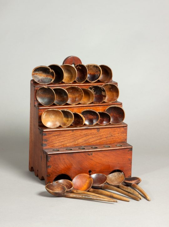 Welsh spoon rack & spoons SOLD