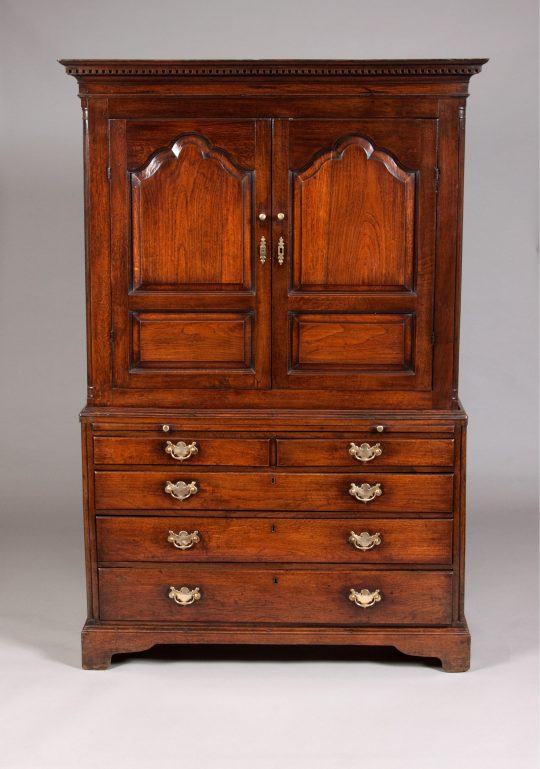 Welsh oak linen press Sold