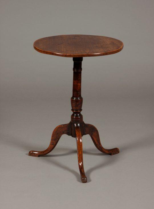Elm tripod table Sold