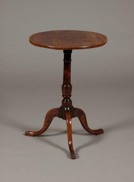 Elm tripod table